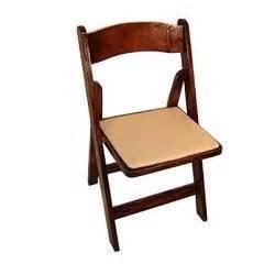 Folding Mahogany Wood Chair