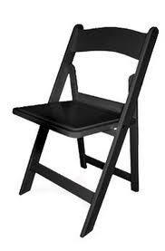 Folding Black Gladiator Chair