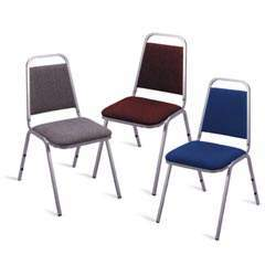 Colored Hotel Stacking Chair (Burgundy or Navy)