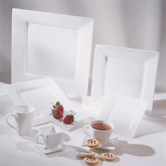 Square White Charger/Serving Platter 12 in