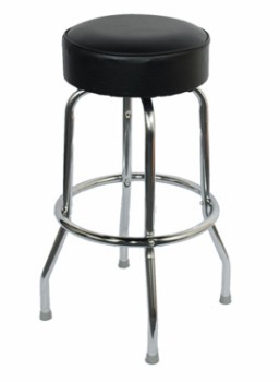 Bar Stool Black Chrome