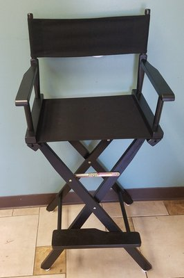 Directors Chairs- Bar Height, Black