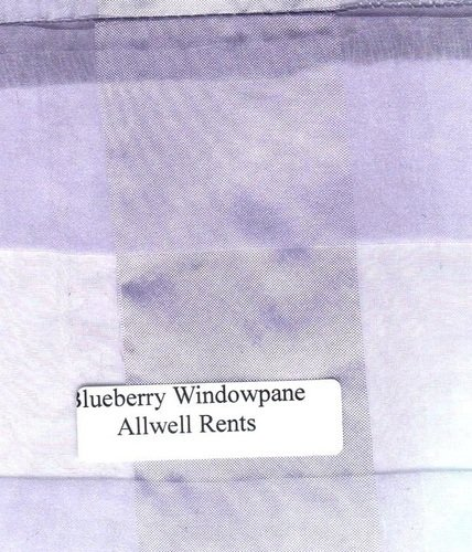 Blueberry Windowpane Organza Linen (Click on the picture for Options)