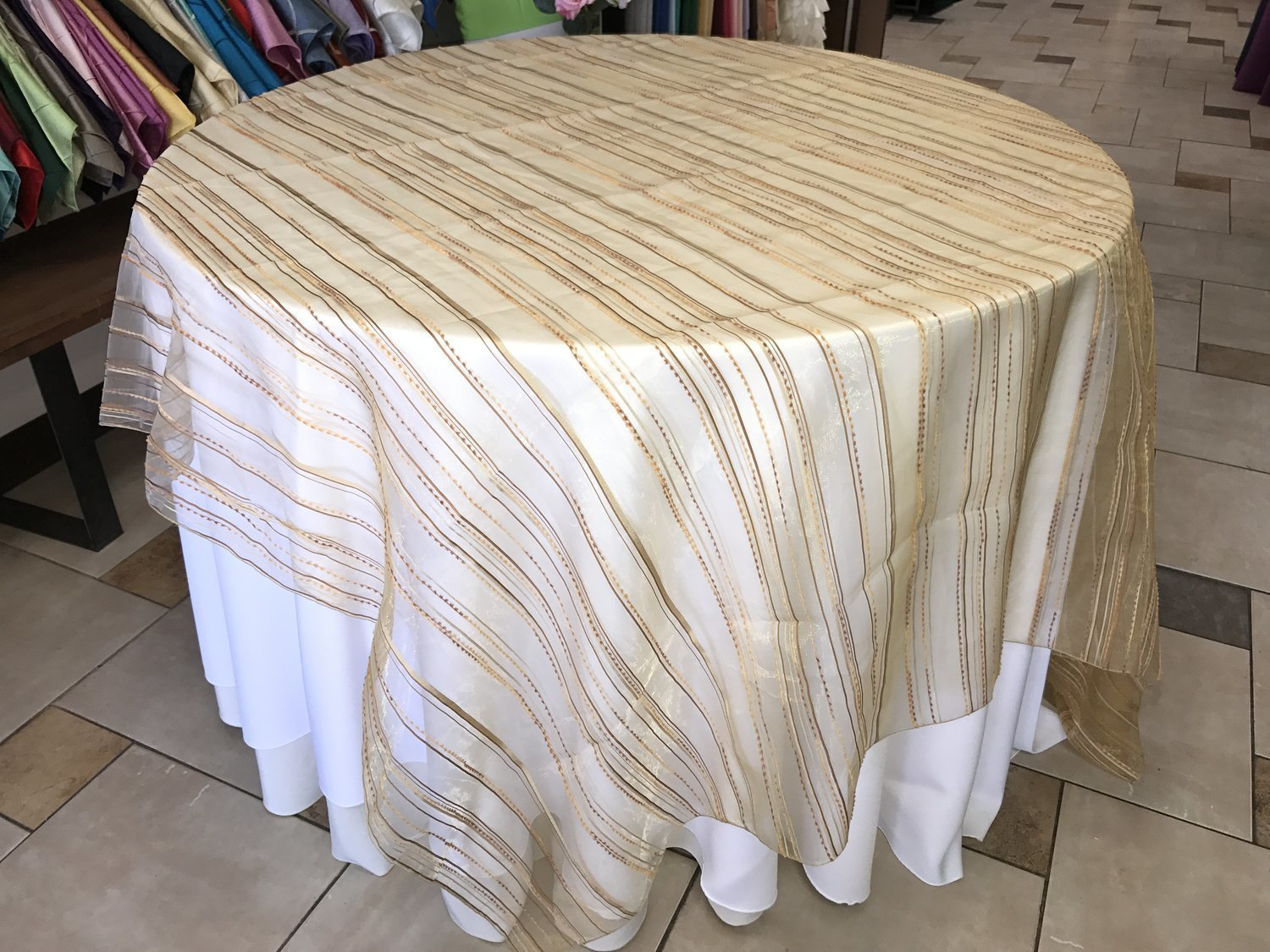 Gold Stripe Organza Linen (Click on the picture for Options) 00615