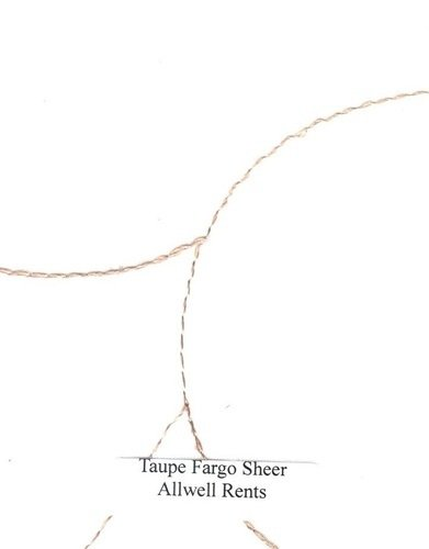 Fargo Taupe Sheer Linen (Click on the picture for Options)