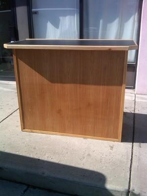 Bar Portable wood Formica Top 4 ft