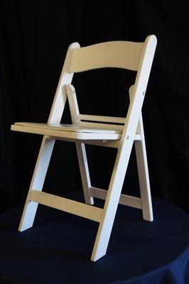 Folding White Gladiator Chair