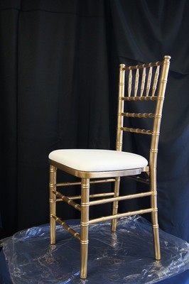 Chiavari Cane Chair-Gold Pad is extra