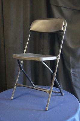 Chair Folding Black Plastic