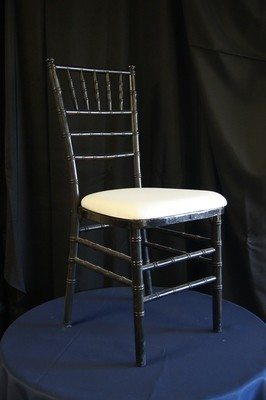Black Chiavari Cane Chair pad is extra