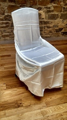 White or Ivory Chair Cover Satin Universal