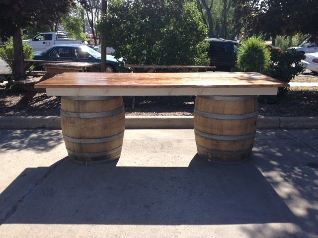 Wine Barrel Table 8' x 40
