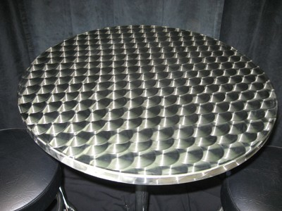 Cocktail Table Silver Swirl 24