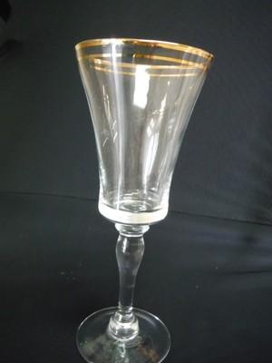 Gold Line Bella Crystal Wine Glass