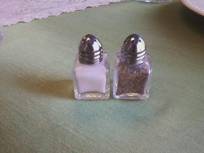 Salt & Pepper  Small Glass