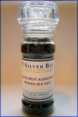 Alderwood Smoked Sea Salt with Grinder
