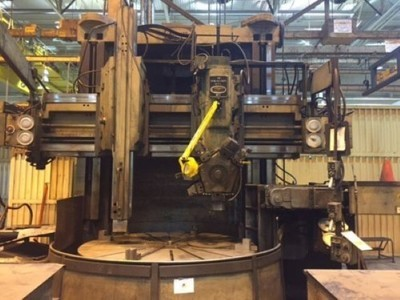"1 – USED 76"" BULLARD DYN-AU-TAPE VERTICAL MANUAL TURRET LATHE"