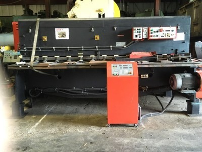 "1 – USED 10' X ¼"" AMADA NC MECHANICAL SQUARING SHEAR"
