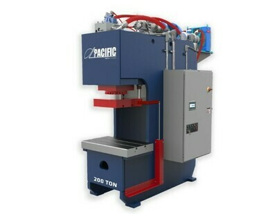 1 - NEW 200 TON PACIFIC HD C-FRAME HYDRAULIC PRESS