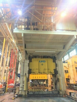 ​1 – USED 1,800 TON LVD DOUBLE ACTING HYDRAULIC PRESS