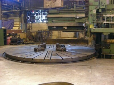 """1 - USED 252""""/468"""" SCHIESS MANUAL VERTICAL BORING MILL"""