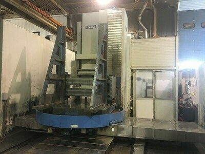 """1 - USED 5"""" UNION TC 130 4-AXIS CNC TABLE TYPE HORIZONTAL BORING MILL"""