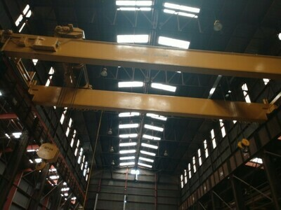 2 - USED 50/20 TON DOUBLE GIRDER TOP RUNNING BRIDGE CRANES