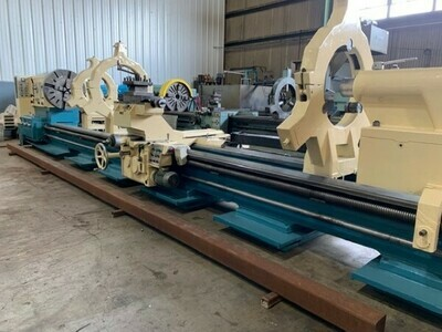 "1 – USED 53"" X 236"" POREBA MANUAL GAP BED LATHE"