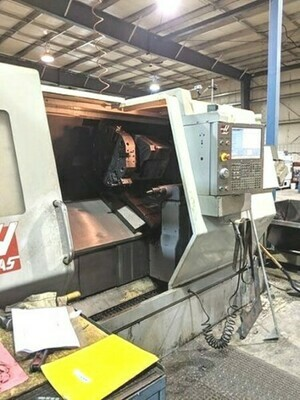 "1 – USED HAAS 40"" X 51"" HAAS ""BIG BORE"" CNC TURNING CENTER"