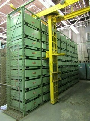 2 – USED VIDMAR STAK PALLET ENCLOSURE SYSTEMS