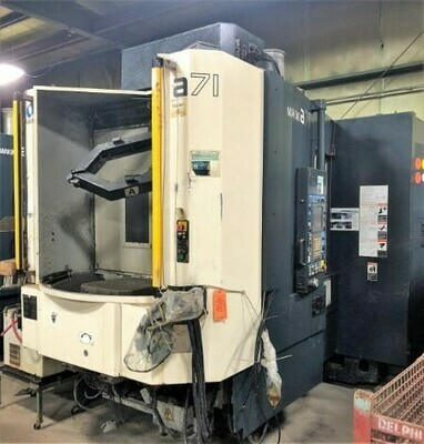 "1 – USED 20"" X 20"" PALLET MAKINO A71 CNC 4-AXIS PRECISION HORIZONTAL MACHINING CENTER"