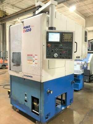 "2 – USED DAEWOO 24"" 2-AXIS VERTICAL TURNING CENTERS"