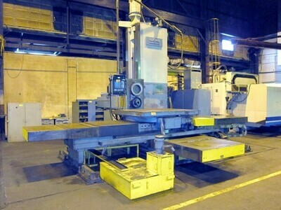 """1 - USED 6"""" LUCAS CNC TABLE TYPE HORIZONTAL BORING MILL WITH BUILT IN ROTARY TABLE"""