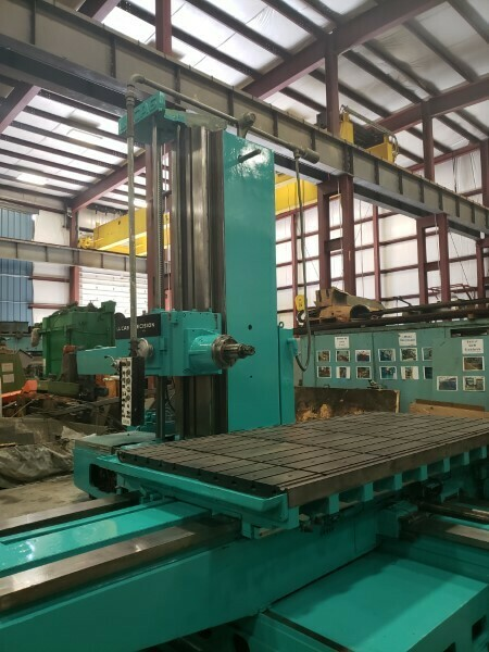 "1 - USED 6"" LUCAS MANUAL TABLE TYPE HORIZONTAL BORING MILL"