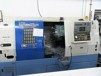 """1 - USED 21.6"""" SUPER KIATURN 4-AXIS CNC TURNING CENTER WITH LIVE TOOLING & SUB SPINDLE"""
