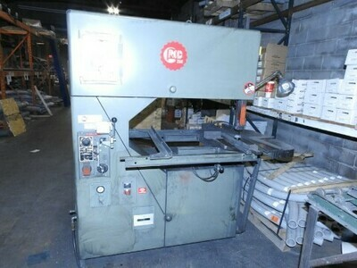 """1 - USED 36"""" GROB VERTICAL BAND SAW WITH BLADE WELDER"""