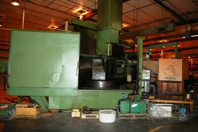 """1 - USED 78""""/97"""" DORRIES SCHARMAN CNC VERTICAL BORING MILL WITH LIVE TOOLING"""