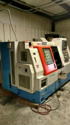"""1 – USED 17.13"""" MAZAK CNC TURNING CENTER WITH LIVE TOOL AND SUB-SPINDLE"""