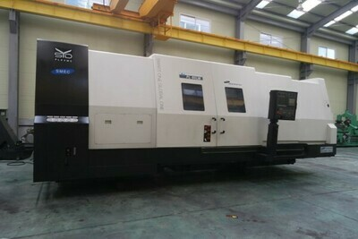 """1 - USED SAMSUNG 35"""" X 125"""" CNC SLANT BED LATHE WITH MILLING"""
