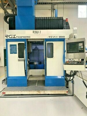 "2 - USED 40"" X 47"" RIVAX 800 5-AXIS CNC VERTICAL MACHINING CENTERS"