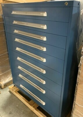 45 – NEW STANLEY VIDMAR 9-DRAWER TOOL STORAGE CABINETS