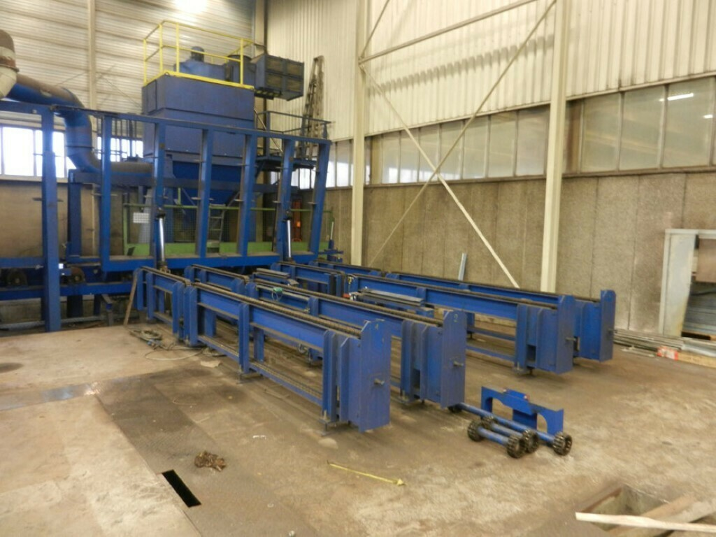 1 - USED WHEELABRATOR SCHLICK CNC THRU FEED VERTICAL PLATE SHOT BLASTER