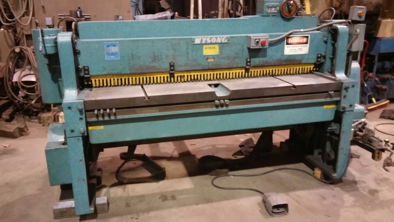 "1 - USED 72"" X 10 GAUGE WYSONG HI-SPEED MECHANICAL SHEAR"