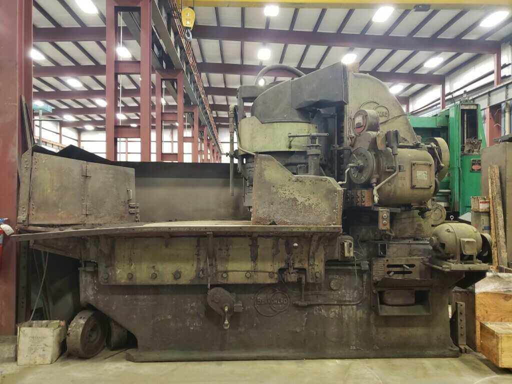 "1 - USED 60"" BLANCHARD VERTICAL ROTARY SURFACE GRINDER"