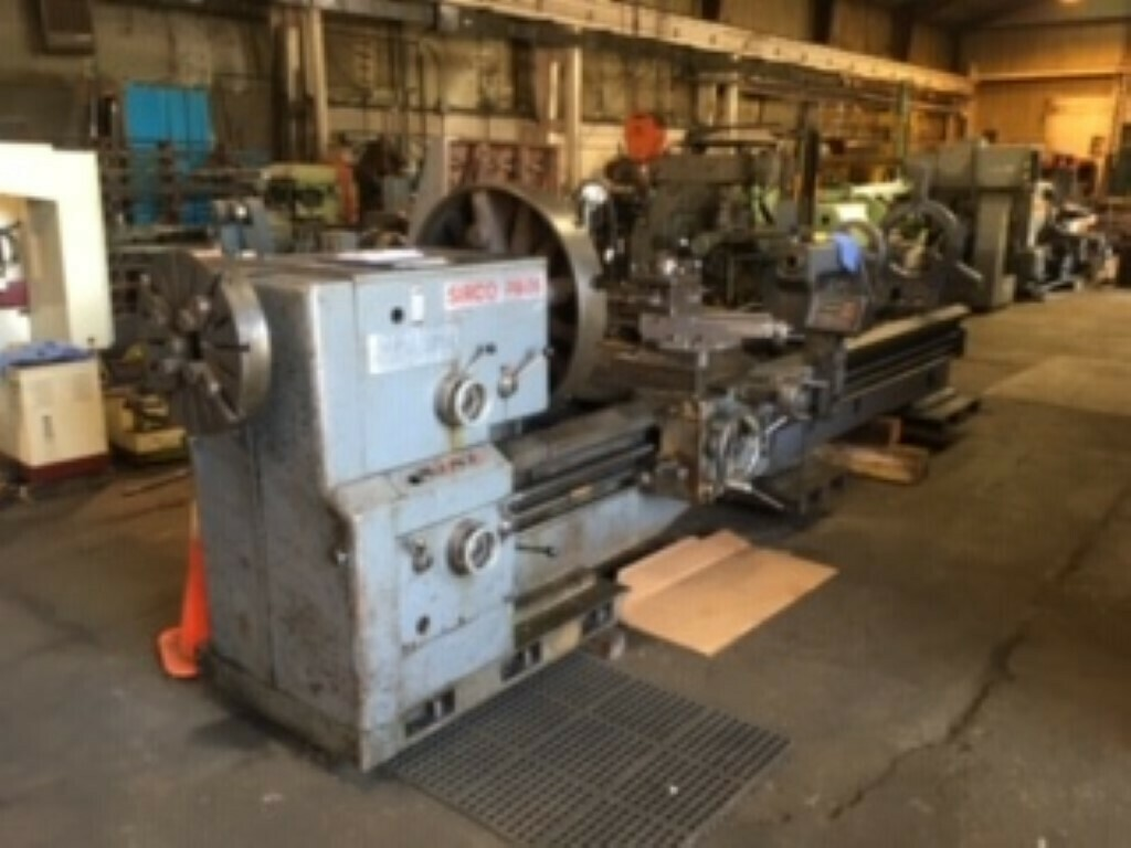"""1 - USED 36"""" X 144"""" SIRCO GAP BED ENGINE LATHE WITH 6.5"""" SPINDLE HOLE"""