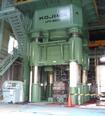 1 - USED 9,000 TON KOJIMA (JAPENSE) HYDRAULIC HOT FORGING PRESS