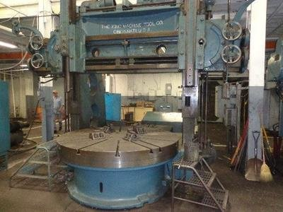 """1 – USED 80""""/90"""" KING VERTICAL BORING MILL"""