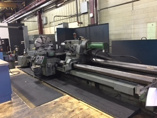 "1 – USED 48"" X 202"" AMERICAN 2-AXIS CNC HEAVY DUTY LATHE"
