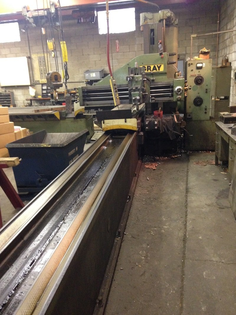 """1 – USED 30"""" X 16' GRAY OPEN SIDE PLANER"""