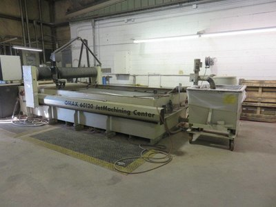 1 – USED OMAX MODEL 60120 WATERJET MACHINING CENTER WITH TILT-A-JET HEAD & SOFTWARE